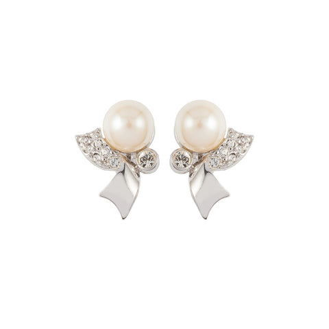 1980s Vintage Faux Pearl Earrings
