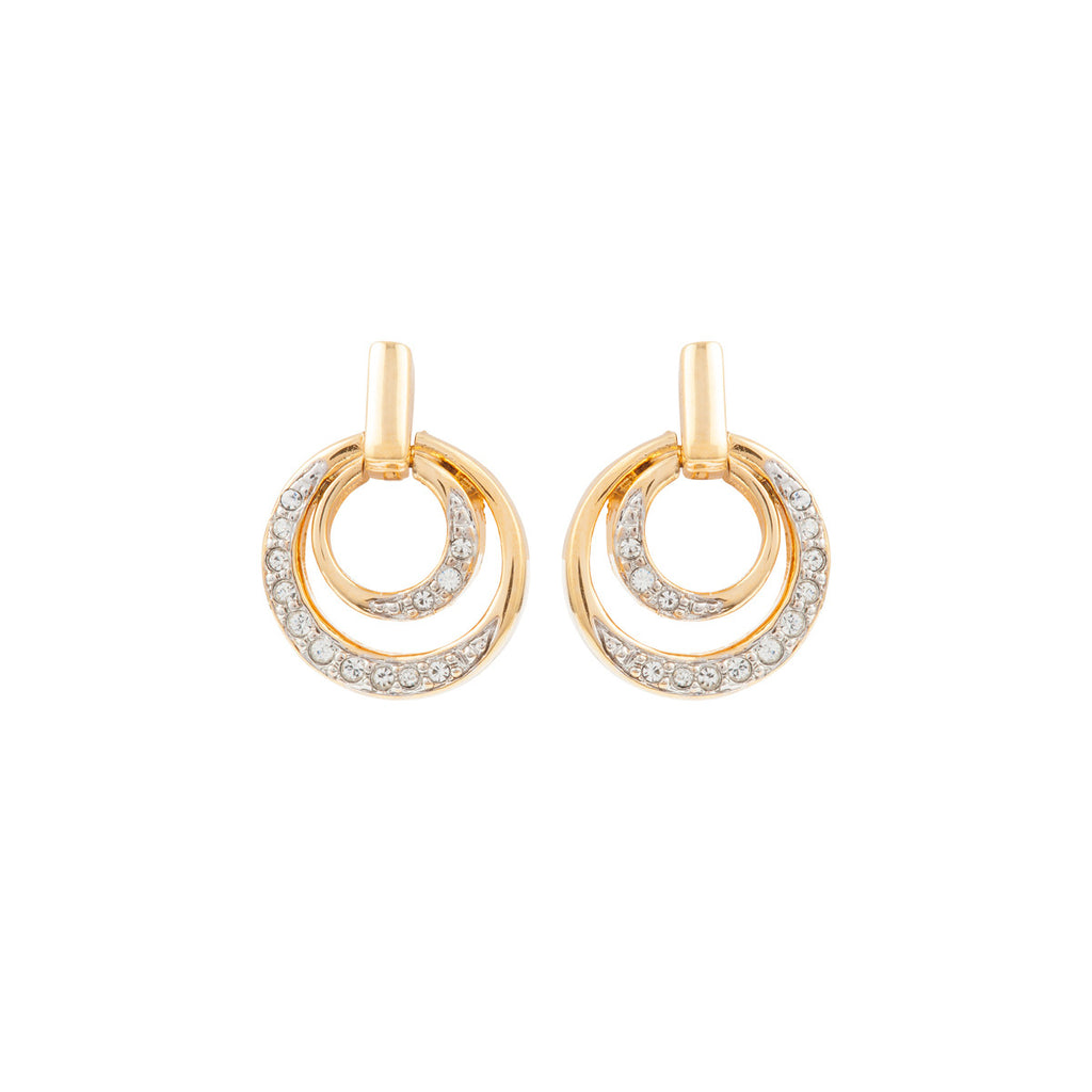 1980s Vintage Nina Ricci Small Hoop Earrings