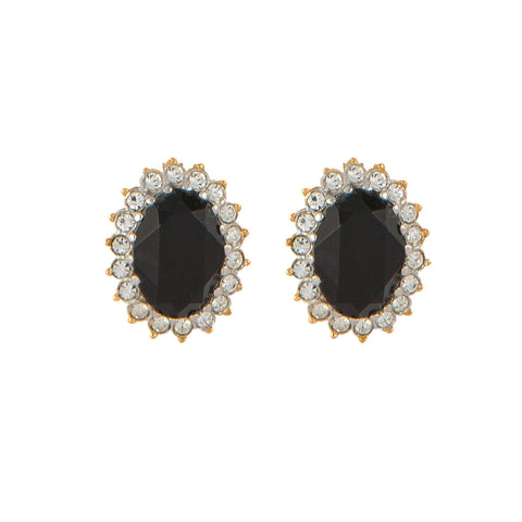 1980s Vintage Nina Ricci Crystal Earrings