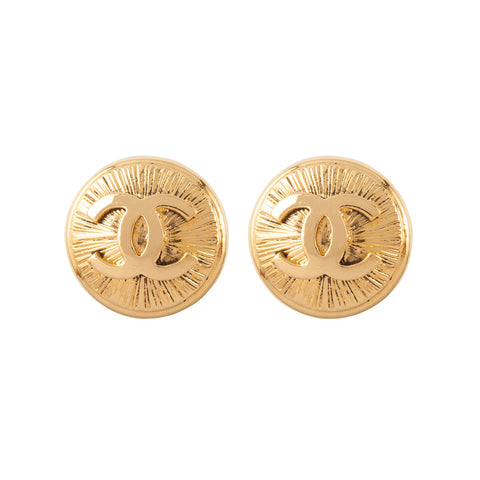 1980s Vintage Chanel Logo Earrings