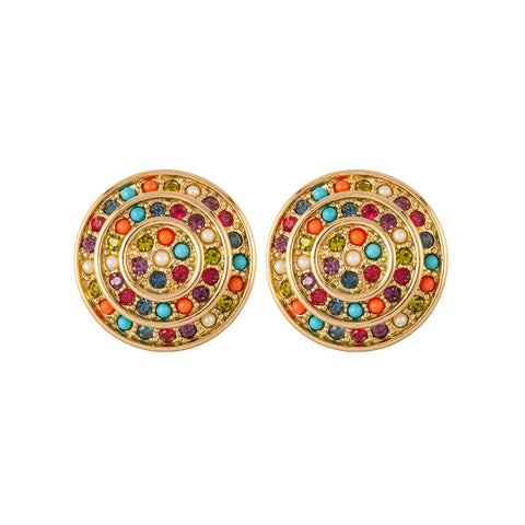 1980s Vintage D'Orlan Round Clip-On Earrings