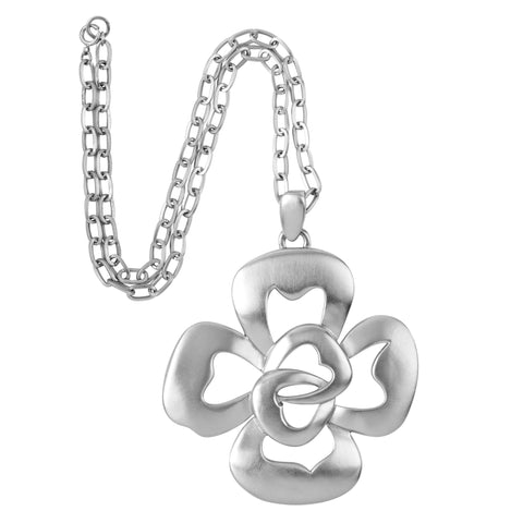 1970s Vintage Trifari Stylised Flower Pendant