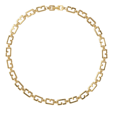 1980s Vintage Givenchy G Link Necklace