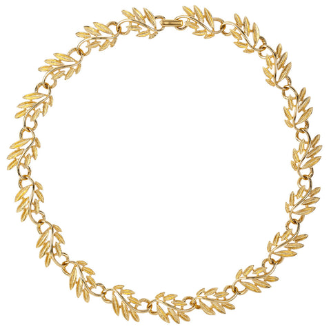 1960s Vintage Napier Golden Leaf Necklace