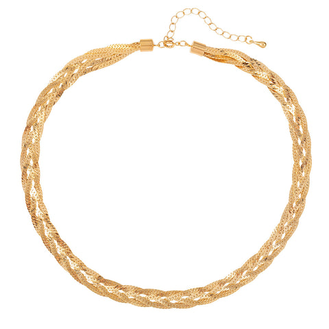 1980s Vintage Golden Weave Necklace