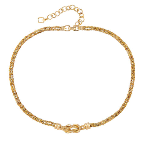 1960s Vintage Grosse Gold Textured Necklace