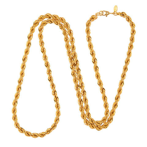 1970 Vintage Monet Rope Chain Necklace