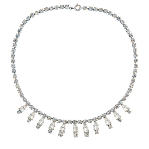 1960s Vintage Sparkling Crystal Necklace