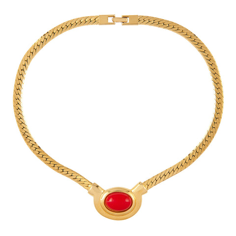 1980s Vintage Napier Red Necklace