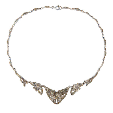 1940s Vintage Marcasite Necklace