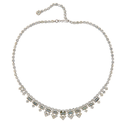 1960s Vintage Crystal Swag Necklace