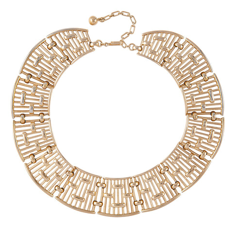 1970s Vintage Trifari Basketweave Necklace