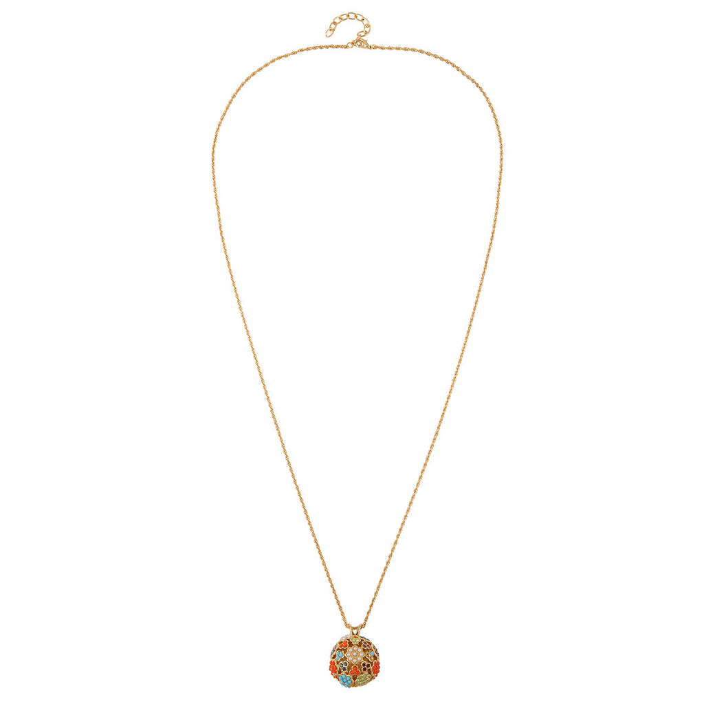 1980s Vintage D'Orlan Ball Pendant