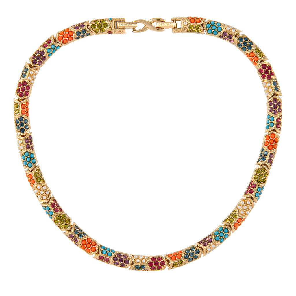 1980s Vintage D'Orlan Colourful Collar