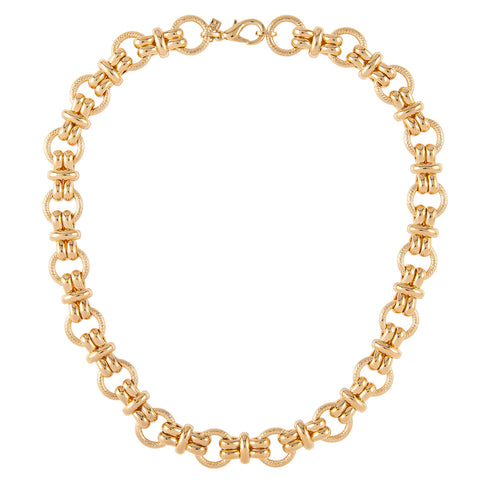 1980s Vintage Nina Ricci Chain Link Necklace
