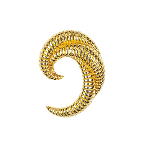 1960s Vintage Monet Crescent Brooch