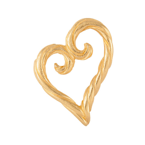 1980s Vintage Yves Saint Laurent Heart Brooch