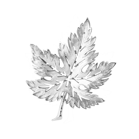 1960s Vintage Trifari Textured Leaf Brooch