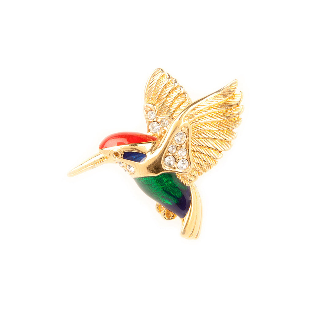 1960s Vintage Attwood & Sawyer Hummingbird Brooch