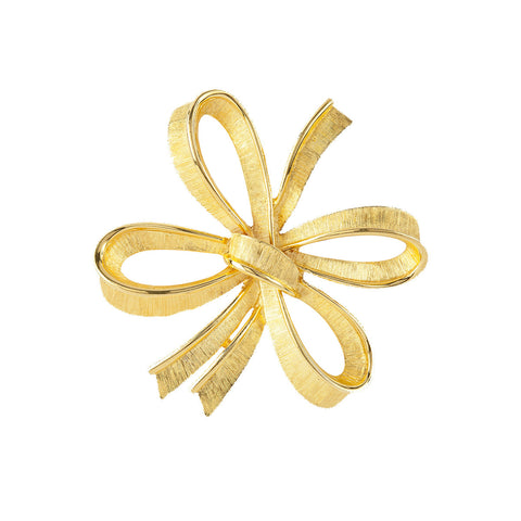 1980s Vintage Monet Stylised Bow Brooch