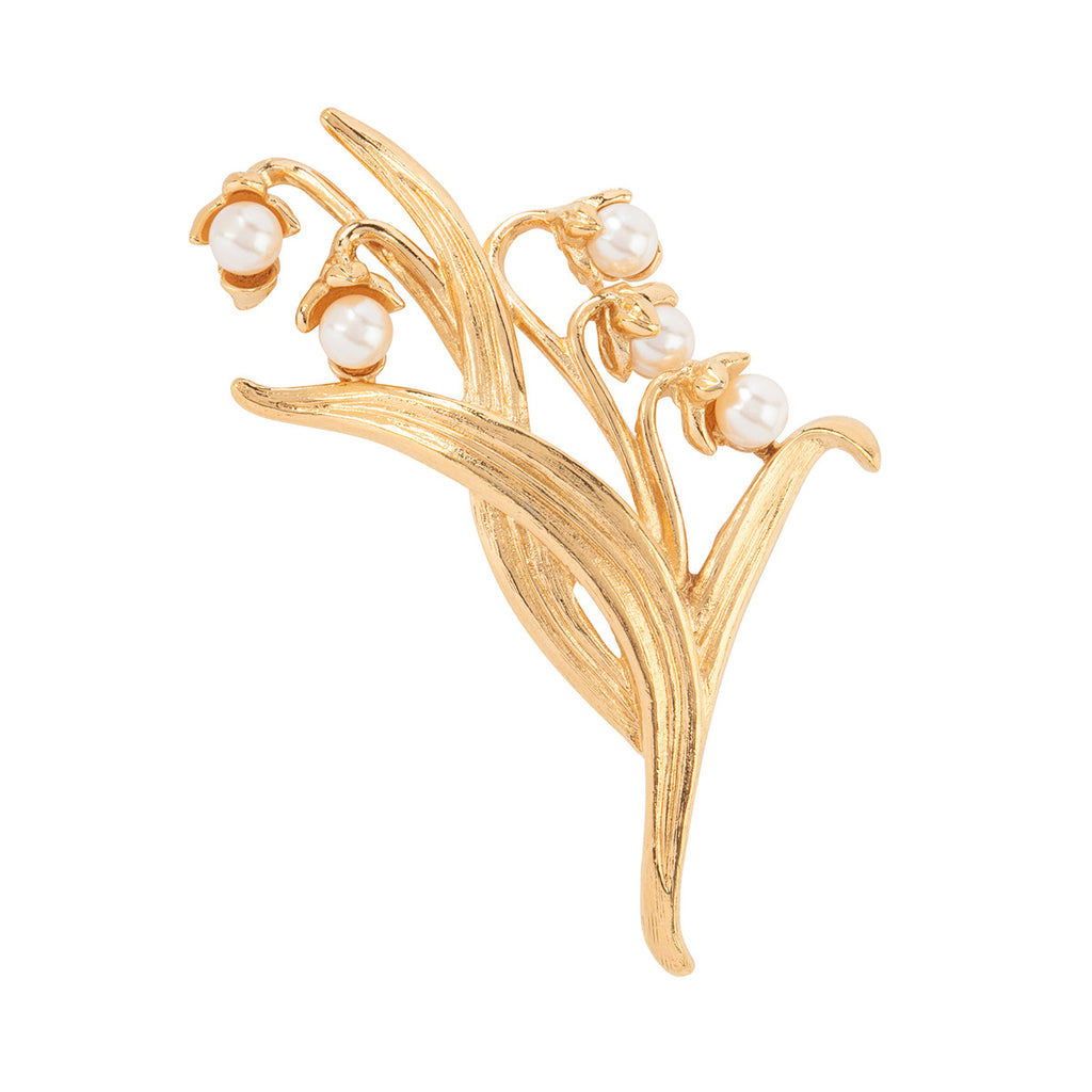 1980s Vintage Givenchy Lily of the Valley Brooch