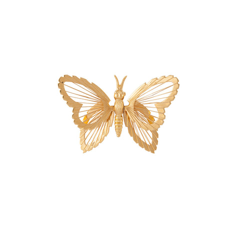1970s Vintage Monet Small Butterfly Brooch