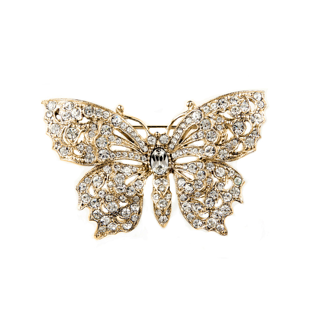 1960s Vintage Attwood & Sawyer Butterfly Brooch