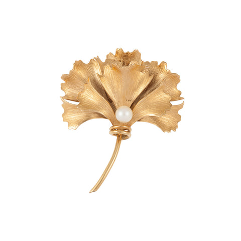 1970s Vintage Wells Flower Brooch