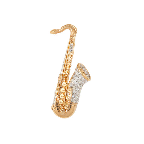 1970s Attwood & Sawyer Saxophone Brooch