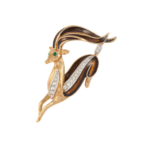 1970s Attwood & Sawyer Deer Brooch