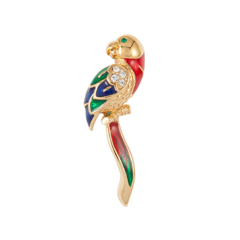1970s Attwood & Sawyer Parrot Brooch