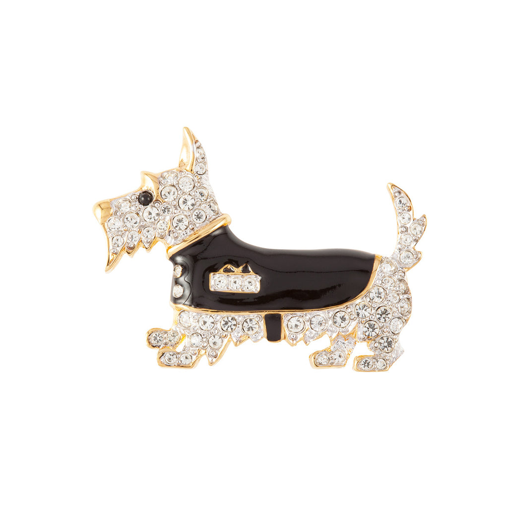 1980s Vintage D'Orlan Scottie Brooch