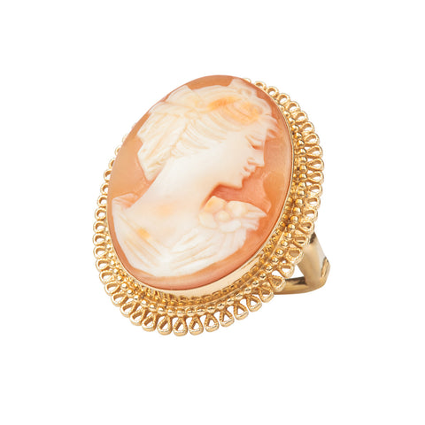 1970s Vintage Vendome Cameo Ring