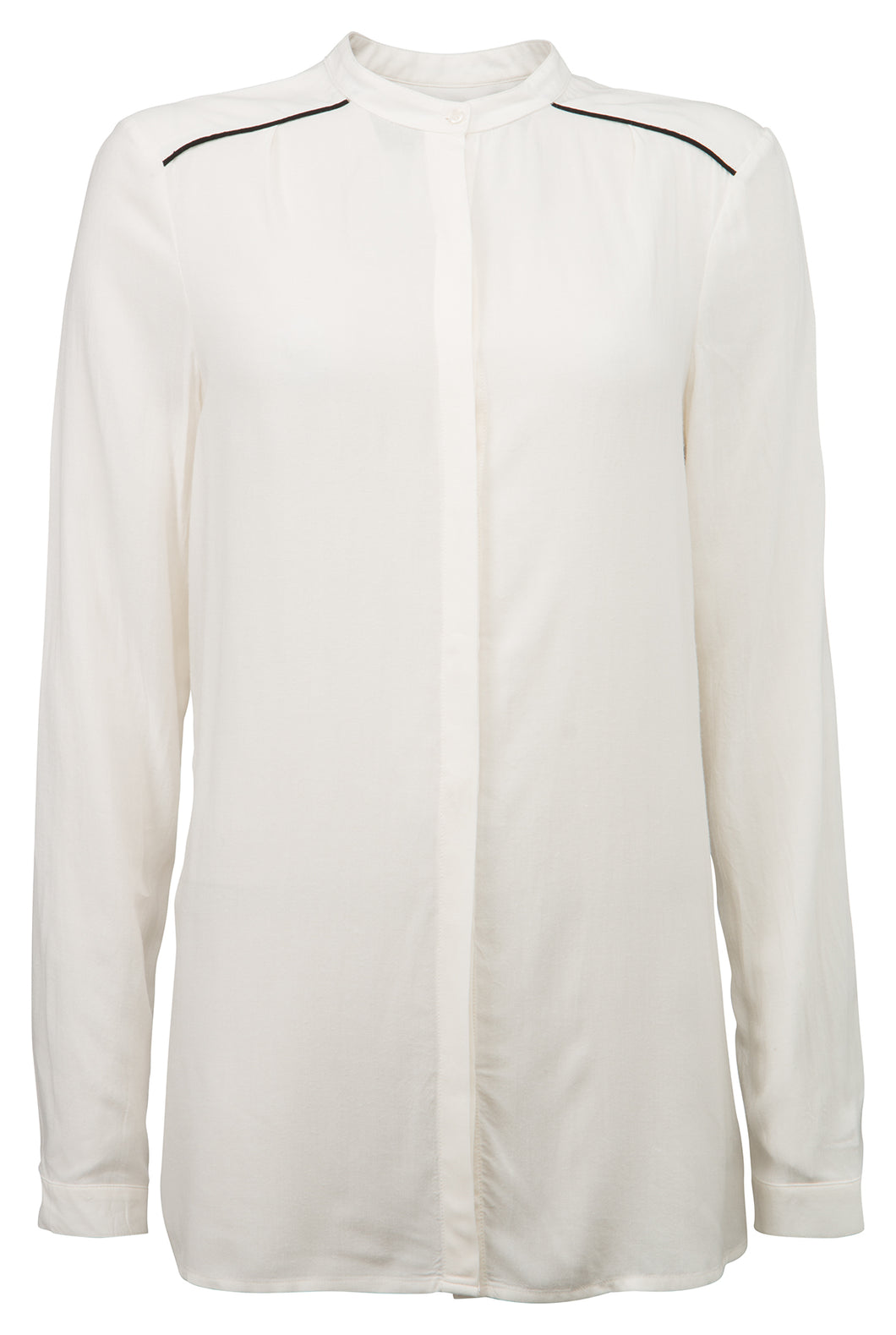 YAYA VISCOSE SHIRT STANDING COLLAR