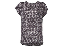 Load image into Gallery viewer, YAYA OVERSIZED WOVEN V-NECK TEE AOP