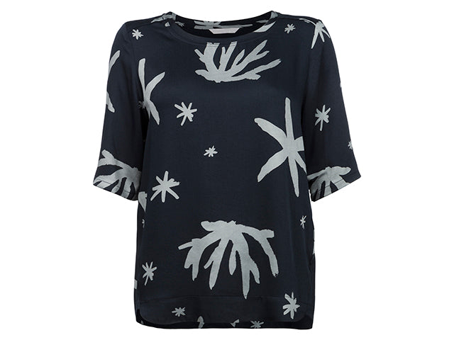 YAYA TOP CORAL PRINTED