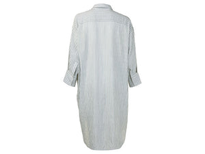 YAYA Oversized blouse dress w jacquard stripe