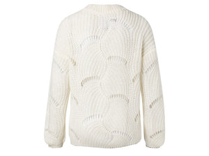 YAYA OPEN CABLE KNIT SWEATER