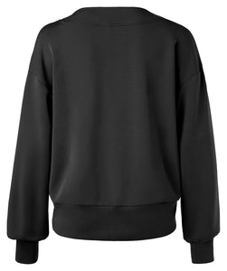 YAYA BOXY SWEATER W. W-NECK