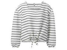 Load image into Gallery viewer, YAYA Blouse Drawstring Striped