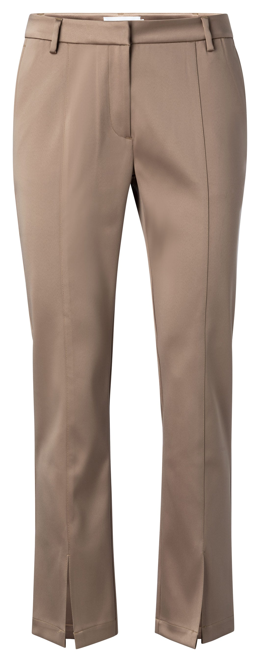 YAYA SATIN STRETCH PANTALON WITH SLITS