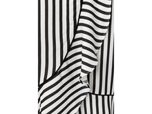 Load image into Gallery viewer, YAYA STRIPED WRAP SKIRT WITH VOLANT