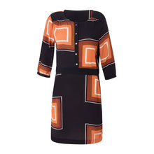 Load image into Gallery viewer, COSTER Square dot print dress