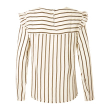 Load image into Gallery viewer, COSTER  Stripe top w. ruffle
