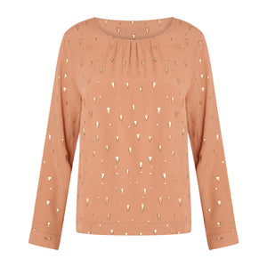 COSTER Long sleeve top with foil print