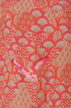 Load image into Gallery viewer, COSTER Cupro dress w. tie band & Japanese waves print