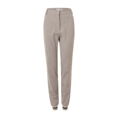 COSTER 7/8 PANTS WITH BOTTOM RIB