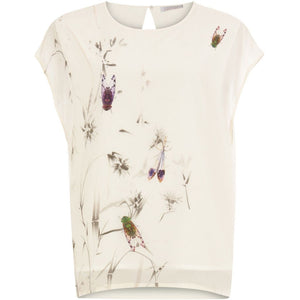 COSTER TOP WITH AUTUMN FLY PRINT