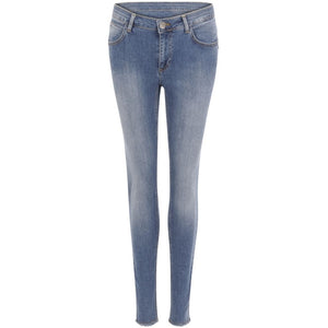 COSTER Jeans - slim fit, long w. embroidery
