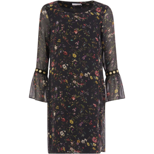 COSTER DRESS IN BOTANICAL PRINT WITH RING DETAILS